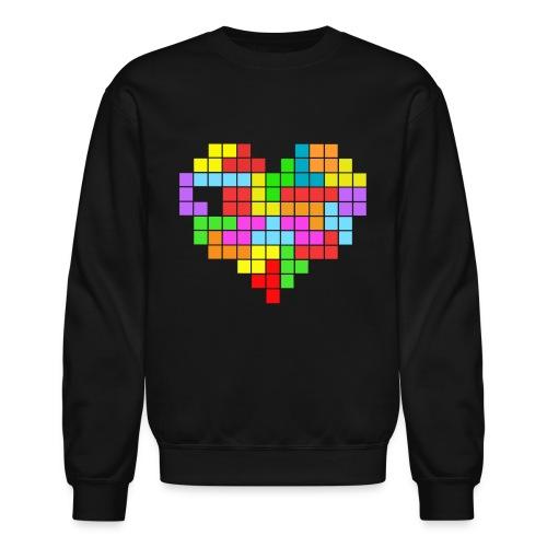 tetris heart - Unisex Crewneck Sweatshirt