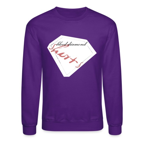 Blood Diamond -white logo - Unisex Crewneck Sweatshirt