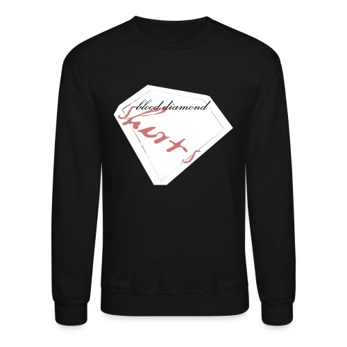 Blood Diamond -white logo - Unisex Crewneck Sweatshirt