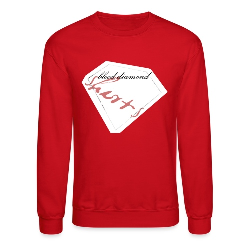 Blood Diamond -white logo - Crewneck Sweatshirt