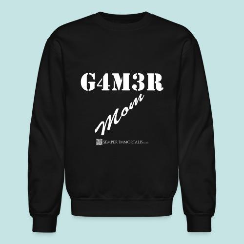 Gamer Mom (white) - Crewneck Sweatshirt