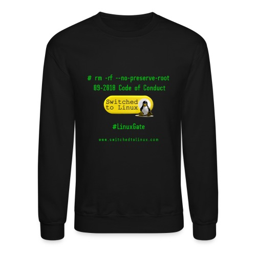 rm Linux Code of Conduct - Crewneck Sweatshirt