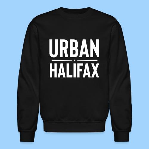 Urban Halifax logo (White) - Unisex Crewneck Sweatshirt
