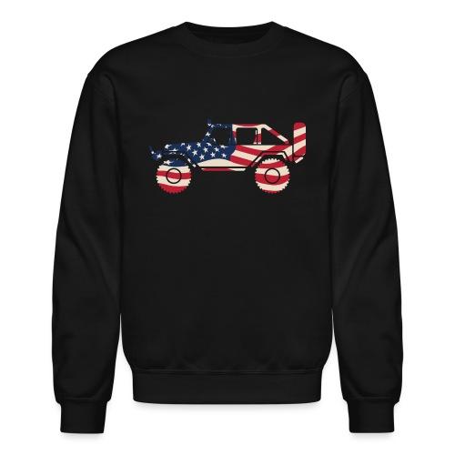 American Patriotic Off Road 4x4 - Crewneck Sweatshirt