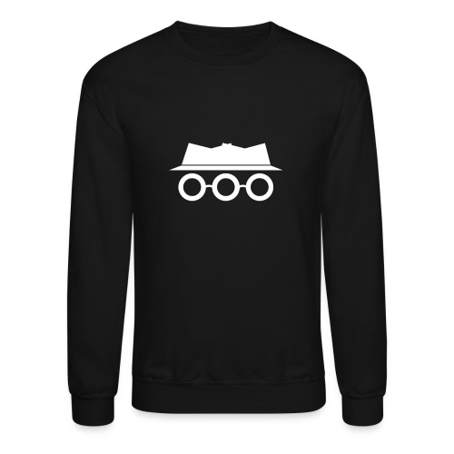 Solid White Somewhat Incognito Logo - Unisex Crewneck Sweatshirt
