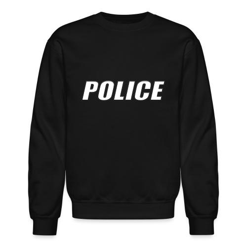 Police White - Unisex Crewneck Sweatshirt