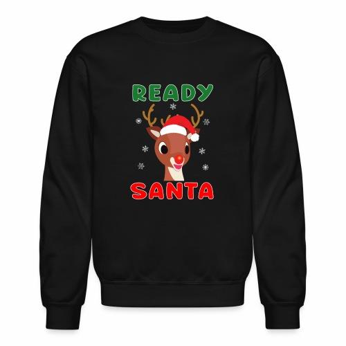 Rudolph Red Nose Reindeer Christmas Snowflakes. - Unisex Crewneck Sweatshirt