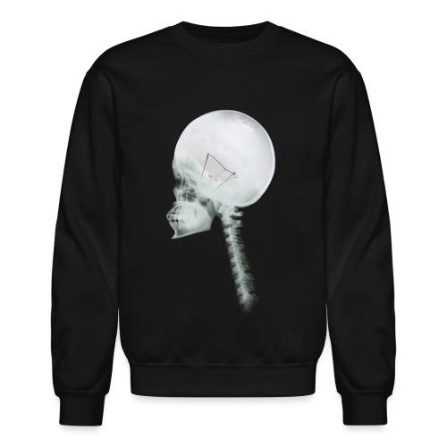 Light Bulb Skull - Unisex Crewneck Sweatshirt