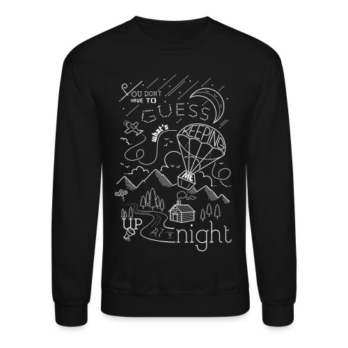 Up at Night Design - Unisex Crewneck Sweatshirt
