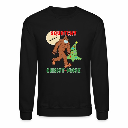 Bigfoot Squatchy Christmas Mask Social Distance. - Unisex Crewneck Sweatshirt