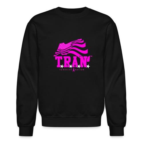 TRAN Ribbon Logo 4 - Crewneck Sweatshirt