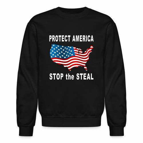 Protect America Stop the Steal Voter Fraud Trump. - Unisex Crewneck Sweatshirt