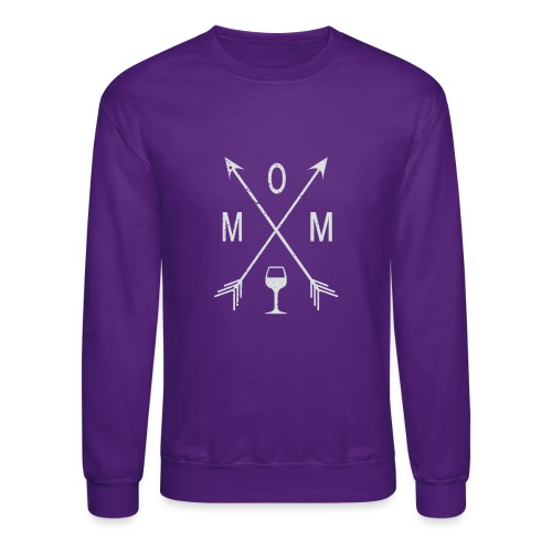 Mom Wine Time - Crewneck Sweatshirt