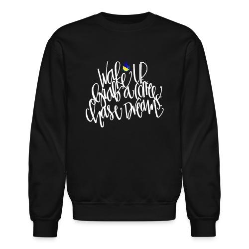 wakeup white drop png - Unisex Crewneck Sweatshirt