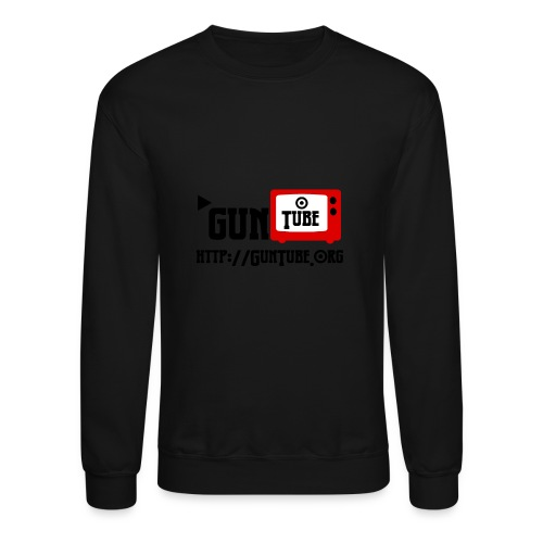 GunTube Shirt with URL - Crewneck Sweatshirt