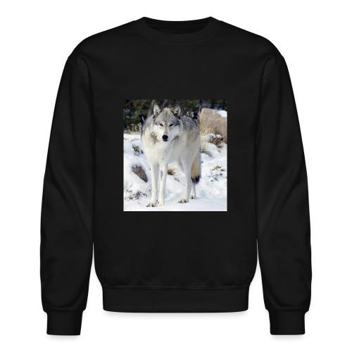 Canis lupus occidentalis - Unisex Crewneck Sweatshirt