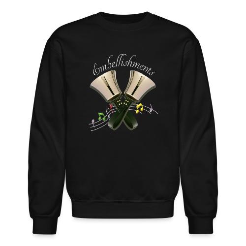 2 Bells Embellishments white b png - Crewneck Sweatshirt