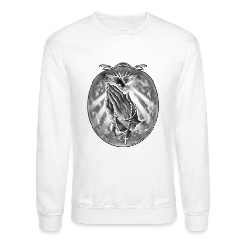 Praying Hands by RollinLow - Unisex Crewneck Sweatshirt