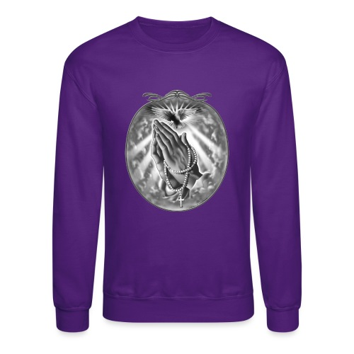 Praying Hands by RollinLow - Crewneck Sweatshirt
