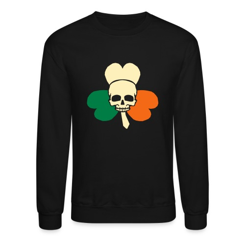 irish_skull_shamrock - Crewneck Sweatshirt