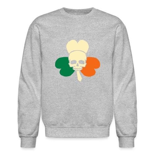 irish_skull_shamrock - Crewneck Sweatshirt