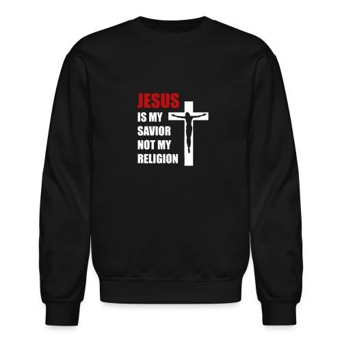 Jesus is my Savior Tee for men - Crewneck Sweatshirt
