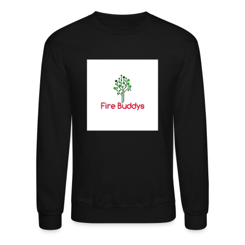 Fire Buddys Website Logo White Tee-shirt eco - Crewneck Sweatshirt