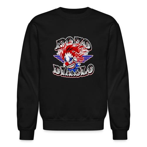 Bozo Diablo Crazy Clown Illustration - Crewneck Sweatshirt
