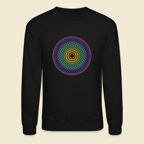 Torus Yantra Hypnotic Eye rainbow - Unisex Crewneck Sweatshirt