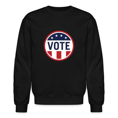 Vote Red White and Blue Stars and Stripes - Unisex Crewneck Sweatshirt