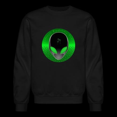 Psychedelic Alien Dolphin Green Cetacean Inspired - Crewneck Sweatshirt