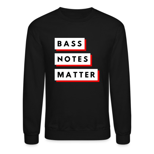 Bass Notes Matter Red - Unisex Crewneck Sweatshirt
