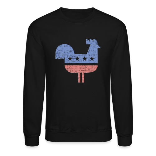 chicken party distressed - Crewneck Sweatshirt
