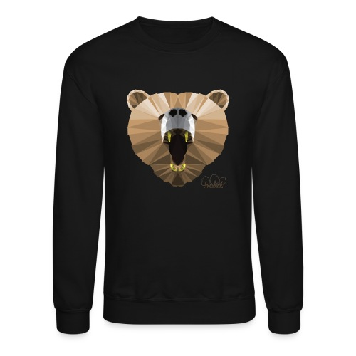 Hungry Bear Women's V-Neck T-Shirt - Unisex Crewneck Sweatshirt