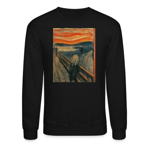 The Scream (Textured) by Edvard Munch - Crewneck Sweatshirt