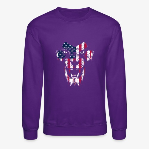 American Flag Lion - Crewneck Sweatshirt