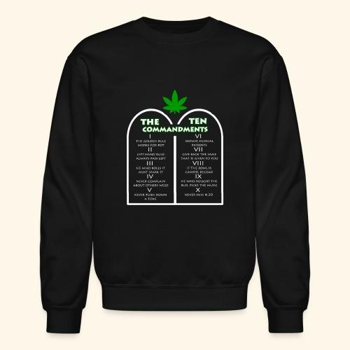 The Ten Commandments of cannabis - Crewneck Sweatshirt
