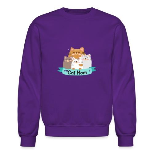 Cat MOM, Cat Mother, Cat Mum, Mother's Day - Crewneck Sweatshirt