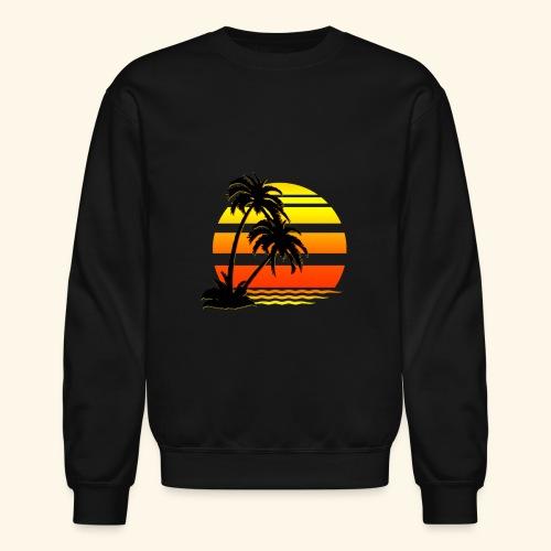 Summer Surfer California Sunset - Unisex Crewneck Sweatshirt