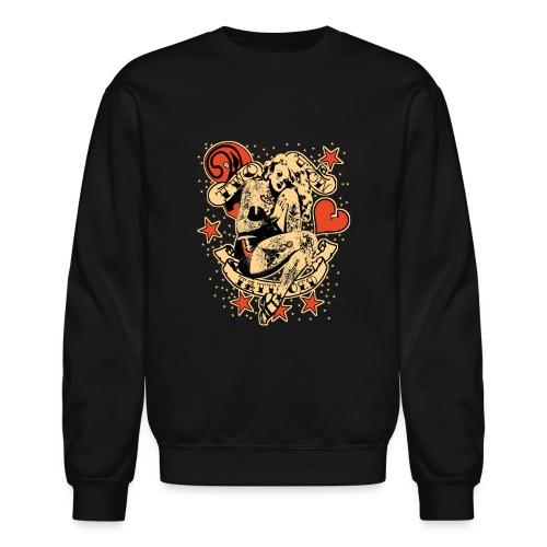 Screwed & tattooed Pin Up Zombie - Crewneck Sweatshirt