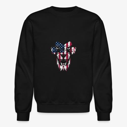 American Flag Lion - Crewneck Sweatshirt