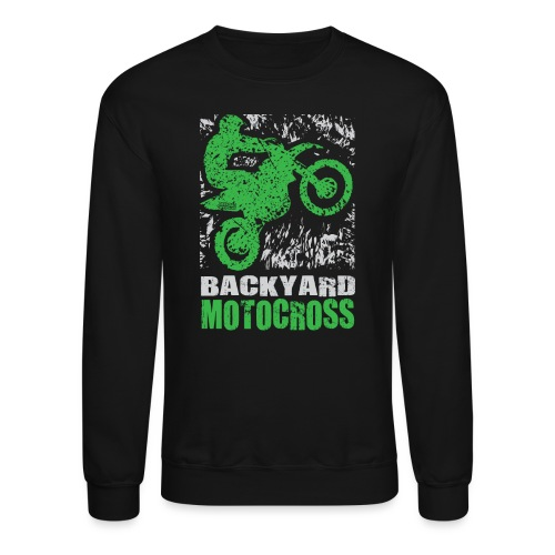 Motocross Backyard Green - Crewneck Sweatshirt