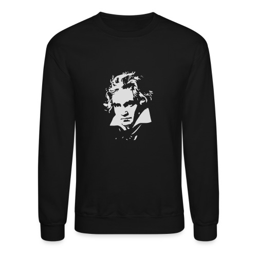 Ludvig Van Beethoven negative for dark shirts - Crewneck Sweatshirt