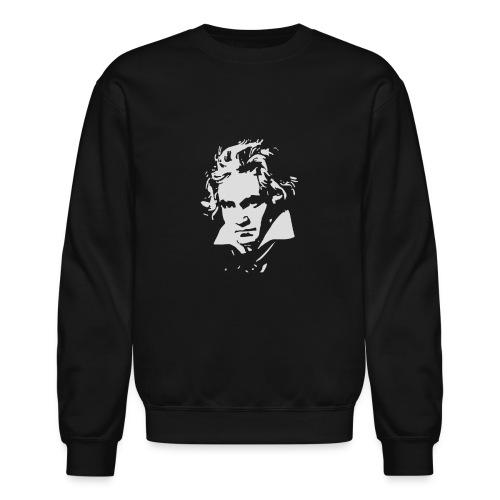 Ludvig Van Beethoven negative for dark shirts - Unisex Crewneck Sweatshirt