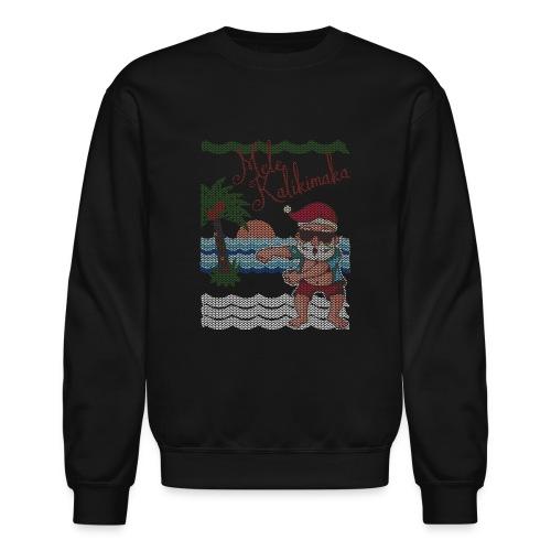 Ugly Christmas Sweater Hawaiian Dancing Santa - Crewneck Sweatshirt