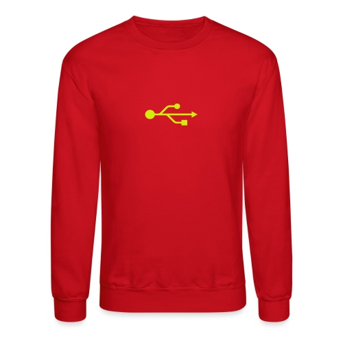 Yellow USB Logo Mid - Crewneck Sweatshirt