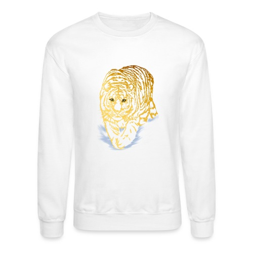 Golden Snow Tiger - Crewneck Sweatshirt