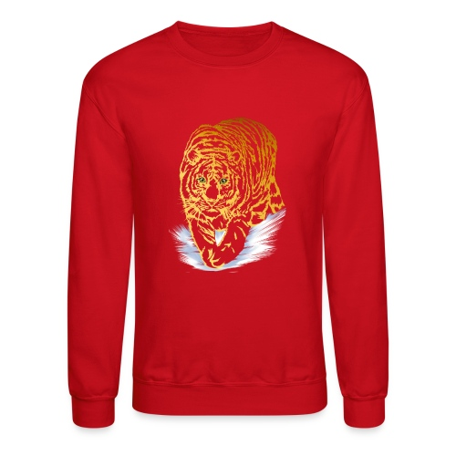 Golden Snow Tiger - Crewneck Sweatshirt