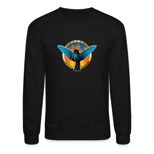 Choose Courage - Fireblue Rebels - Crewneck Sweatshirt