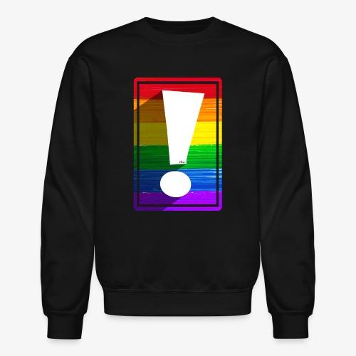 LGBTQ Pride Exclamation Point - Unisex Crewneck Sweatshirt